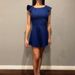 Dresses & Skirts - blue frill shoulder dress